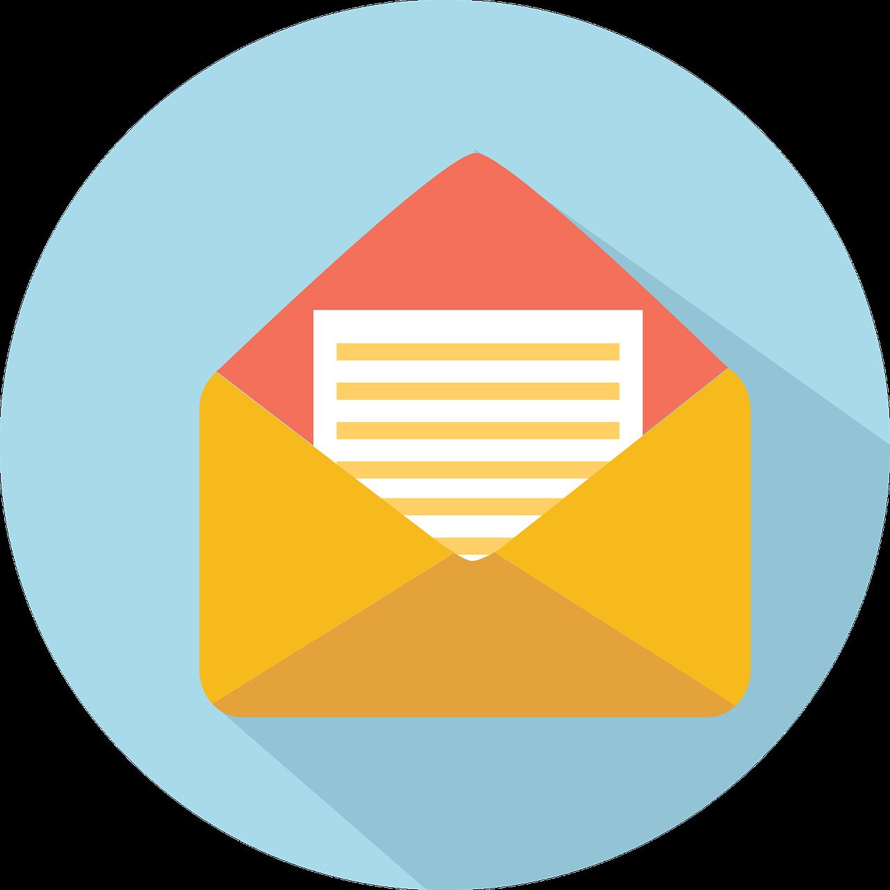 envelope, email, open envelope